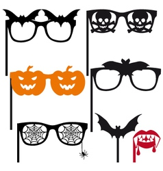 Halloween booth props vector