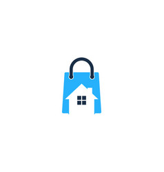 house shopping logo icon design vector image