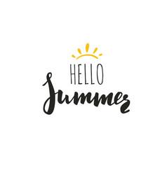 Inspirational summer 2 vector