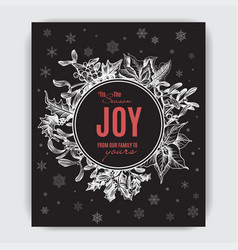 invitation for a christmas holiday greeting card vector image