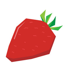 Isolated geometric strawberry vector