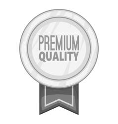Label round premium quality icon vector