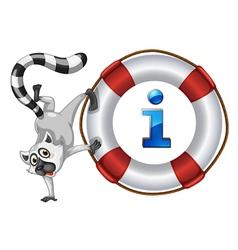 Lemur Information Kiosk Sign vector image