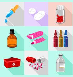 Medical base icons set cartoon style vector
