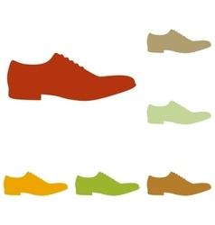Men Shoes sign vector