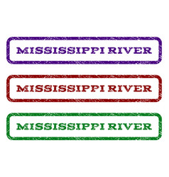 Mississippi river watermark stamp vector