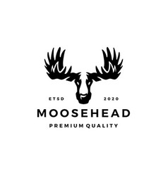 moose head logo icon vector image