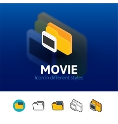 Movie icon in different style vector
