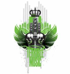 music wings vector image