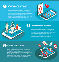 online medical consultation flat isometric vector image