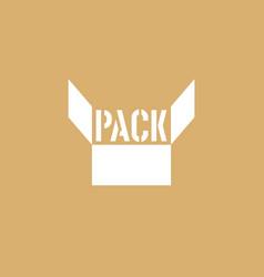 pack logo vector image