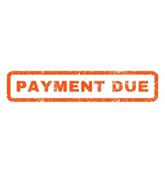 Payment Due Rubber Stamp vector image