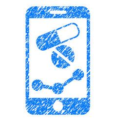 Pharmacy online report grunge icon vector