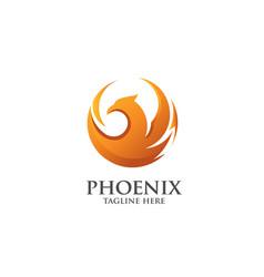 Phoenix circle logo vector