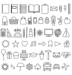 planner icons vector image