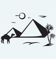 Pyramids in Egypt vector