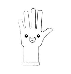 Rubber gloves kawaii character vector