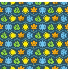 Seamless wallpaper pattern with seasons icons vector