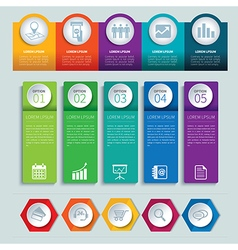 set infographic templates vector image
