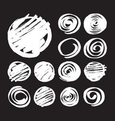 shaded circles and spirals vector image
