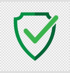 shield check mark logo icon vector image