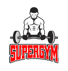 sport supergym a weightlifter background im vector image
