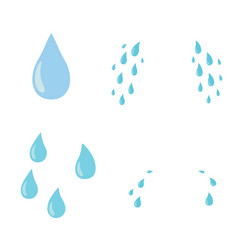 tears set drop flat cartoon character vector image