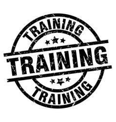 training round grunge black stamp vector image