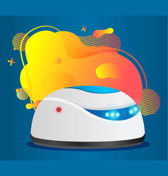 Vacuum cleaner robot with abstract blot vector