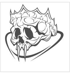 Vampire Skull King Crown design element vector image