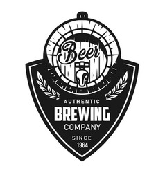 vintage brewing black logotype vector image