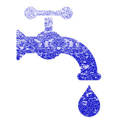 water tap grunge textured icon vector image