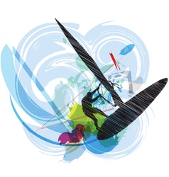 Windsurfing vector image
