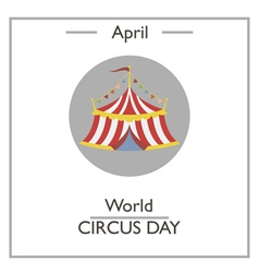 World Circus Day vector image