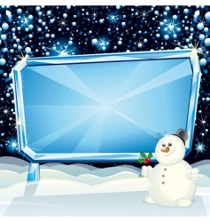 xmas billboard vector image