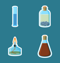 chemical equipment cylinder with liquid bottle vector image vector image