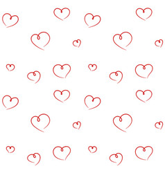hand drawn hearts seamless pattern vector image vector image