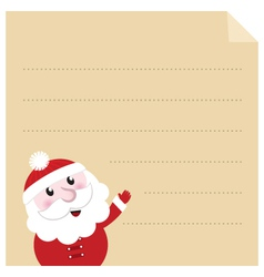 letter to santa vector image vector image