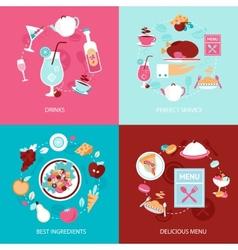 Menu restaurant set vector image vector image