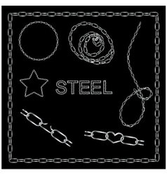 Set of steel chains vector image