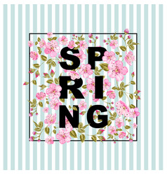 spring sale concept vector image vector image