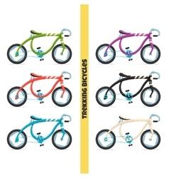 Trekking bicycles one vector
