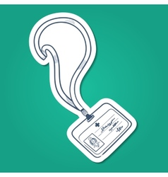 Doctors badge vector image vector image