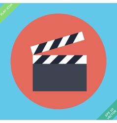 Film clap board cinema - vector image