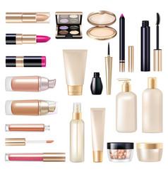 makeup items super set vector image