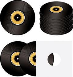 record variation vector image