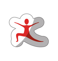 red person practicing dancing vector image