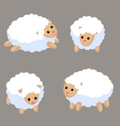 set of cute sheep set of cute sheep vector image vector image