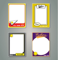 Softball Cards vector image vector image