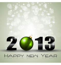 2013 Ecology Green Themed Greetings for New Year vector image vector image